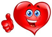 большой пец руки сердца вверх иллюстрация штока