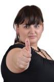 большой пец руки emoticon Стоковое Фото