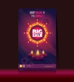 Большой плакат Diwali продажи Стоковые Фотографии RF
