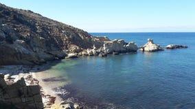 Большой пляж взгляда Стоковые Изображения