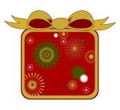 большой подарок рождества смычка Стоковые Фотографии RF