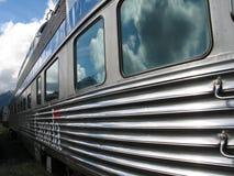 большой поезд серебра пассажира Стоковые Фото