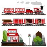 большой поезд комплекта Стоковые Изображения RF