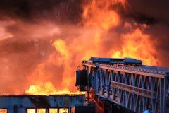 большой пожар города стоковое изображение