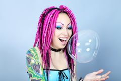большой пузырь Стоковые Фото