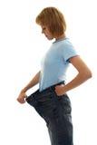 большой размер джинсыов девушки тонкий Стоковая Фотография RF