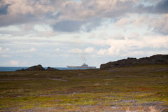 Большой русский военный корабль Стоковое фото RF