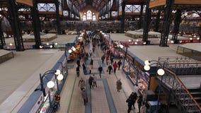 Большой рынок Hall в Будапешт сток-видео