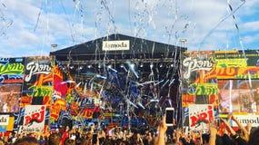 Большой рэп в Москве стоковое фото rf