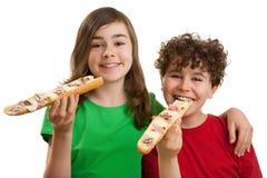 большой сандвич малышей еды Стоковое Фото