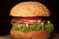 Большой свежий бургер Стоковая Фотография RF