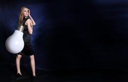 большой светильник девушки стоковая фотография rf