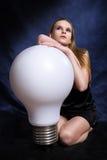 большой светильник девушки стоковое фото