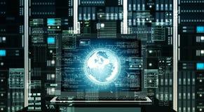 Большой сервер интернета данных стоковое изображение rf