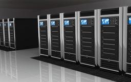 большой сервер комнаты Стоковая Фотография