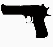 большой силуэт пушки Стоковое Изображение