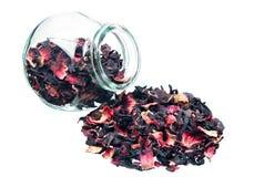 большой сухой цветок выходит чай Стоковые Фотографии RF