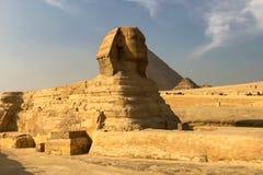 большой сфинкс египетский сфинкс Седьмой интерес мира Старые мегалиты Стоковое Изображение RF