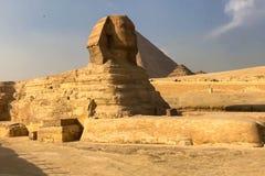 большой сфинкс египетский сфинкс Седьмой интерес мира Старые мегалиты Стоковое Изображение