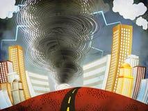 Большой торнадо Стоковое Изображение