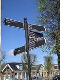 Большой указатель в голландской деревне Стоковая Фотография RF