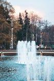 Большой фонтан в парке города Стоковое Фото