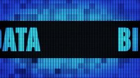Большой фронт данных отправляет SMS перечислению доски знака дисплея с плоским экраном стены СИД бесплатная иллюстрация