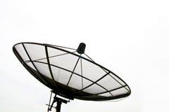 большой черный спутник тарелки стоковое изображение rf