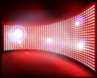 Большой экран проекции на этапе также вектор иллюстрации притяжки corel Стоковые Изображения