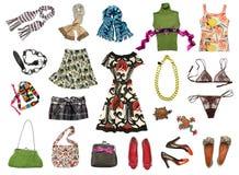 большой яркий комплект женщины цвета одежд Стоковые Фотографии RF