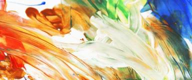 Большой artistBeautiful маленький ребёнок рисует postmod изображения Стоковое Фото