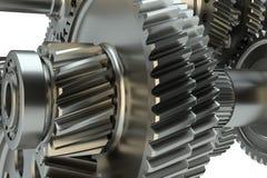 Большой cog катит внутри мотор иллюстрация 3d Стоковые Изображения RF