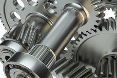 Большой cog катит внутри мотор иллюстрация 3d Стоковые Изображения