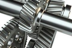 Большой cog катит внутри мотор иллюстрация 3d Стоковое Изображение