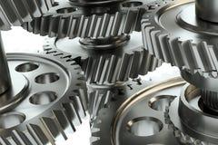 Большой cog катит внутри мотор иллюстрация 3d Стоковое Фото
