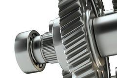 Большой cog катит внутри мотор иллюстрация 3d Стоковые Фото