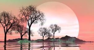 большой moonrise Стоковые Фотографии RF
