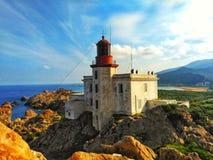Большой phare в jijel стоковые фотографии rf