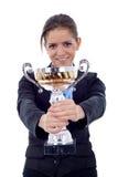 больш ее показывая женщина трофея Стоковое фото RF