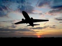 больш над плоским заходом солнца Стоковое Фото