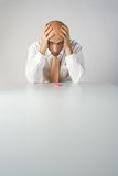 боль головной боли Стоковые Фотографии RF