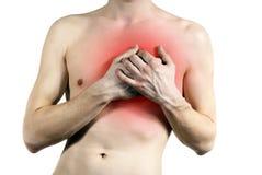боль изолированная сердцем Стоковые Изображения RF