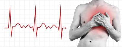 боль изолированная сердцем Стоковое фото RF