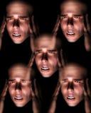 Боль 2 человека головная Стоковое Фото