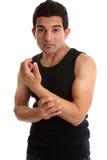 болячка ухода человека инструктора пригодности строителя рукоятки стоковое изображение rf