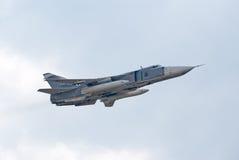 Бомбардировщик центрфорварда Su-24 Стоковая Фотография