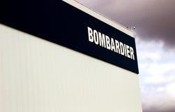 Бомбардье подписывает внутри Mirabel, Квебек Стоковое Изображение RF