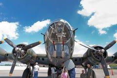 Бомбардировщик американца эры Второй Мировой Войны Боинга B-17 Стоковые Фото