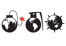 Бомба земли Стоковая Фотография RF