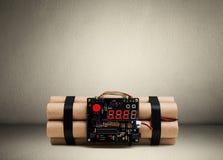 Бомба на поле в комнате Стоковое Изображение